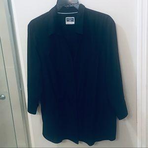 Plus Sized Button Front Blouse
